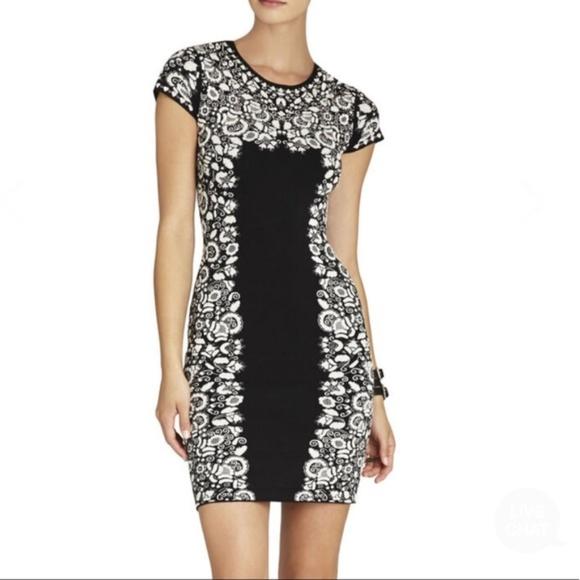 BCBGMaxAzria Dresses & Skirts - BCBG Fabiana Floral Jacquard Dress - M
